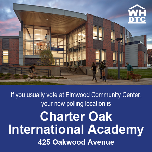 AN IMPORTANT UPDATE FOR WEST HARTFORD RESIDENTS WHO USUALLY VOTE AT ELMWOOD COMMUNITY CENTER (District 4):